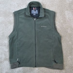 SIMMS Olive Green FLEECE Outdoor FISHING VEST  M